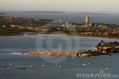 Auckland, View from skytower ,New Zealand