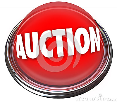 Auction Button Flashing Light Item Sale Highest Bidder