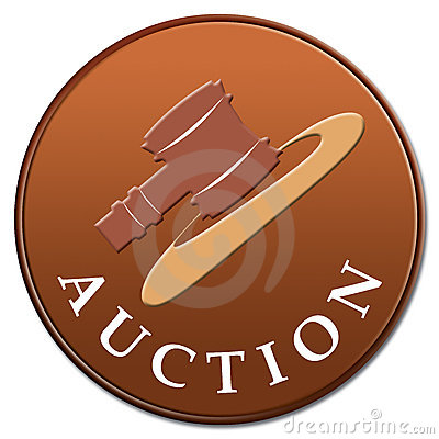 Auction Icon Stock Photography - Image: 3424582
