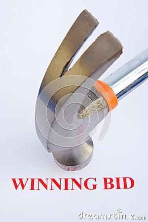 Auction; the winning bid.