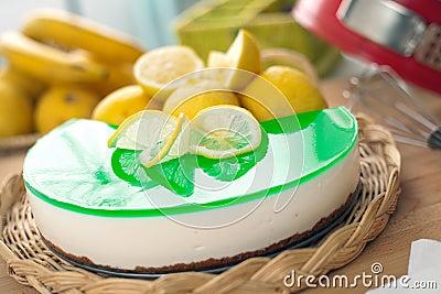 Aucun faites Ricotta et gâteau au fromage cuire au four de citron