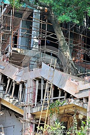 Aucun fonctionnement professionnel de construction