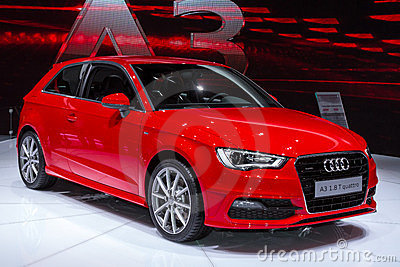 Audi A3 in Geneve Auto Salon 2012 Editorial Photo