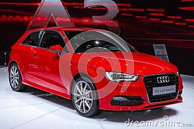 Audi A3 in Geneve Auto Salon 2012 Editorial Photo