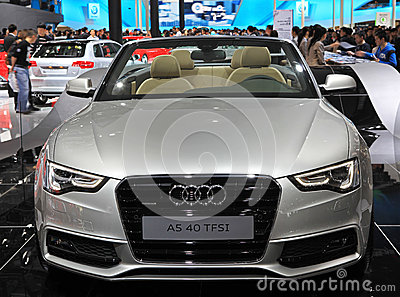 Audi A5 40 TFSI Editorial Stock Photo