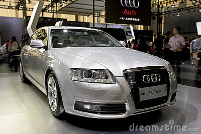 Audi a6 Redactionele Stock Foto