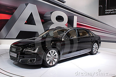 Audi A8 Long - russian premiere Editorial Stock Image