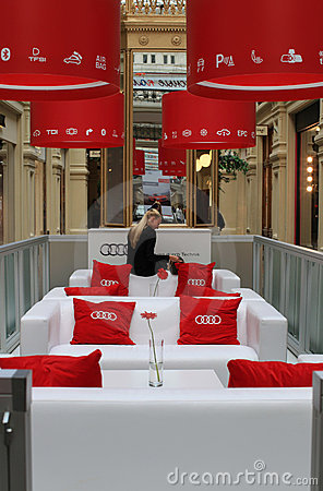 Audi car exhibition in GUM, Moscow Editorial Stock Photo