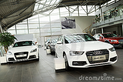 Audi cars for sale Editorial Stock Photo
