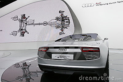Audi e-tron electric sport car Editorial Photo