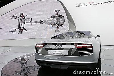 Audi e-tron electric sport car Editorial Photo