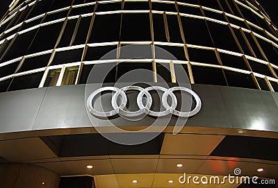 Audi Logo Editorial Photo