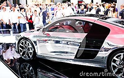 Audi R8 on 63rd IAA Editorial Stock Image