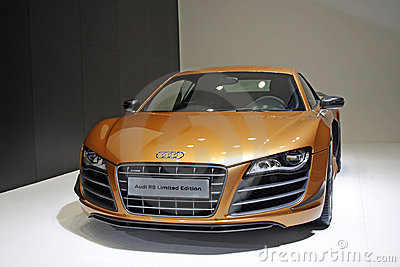 Audi R8 limited premiere in Guangzhou Auto Show Editorial Stock Image