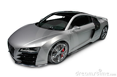 Audi R8 on white background