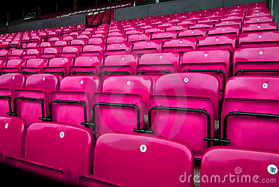 audience chairs pink