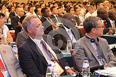 Audience of International seminar Editorial Stock Image
