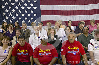 Audience of retired persons at Senator John Kerry Editorial Stock Image