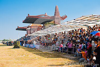 Audience Sitting Surin Elephant Roundup Editorial Photography