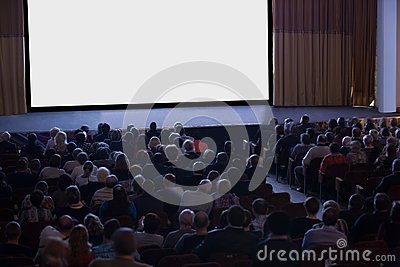 Audience watching cinema