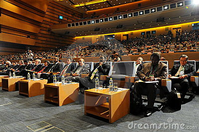 Audiences of International seminar Editorial Stock Image