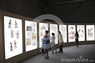 Audiences Watching Chinese Shadow(21st UNIMA) Stock Photos - Image: 25100983