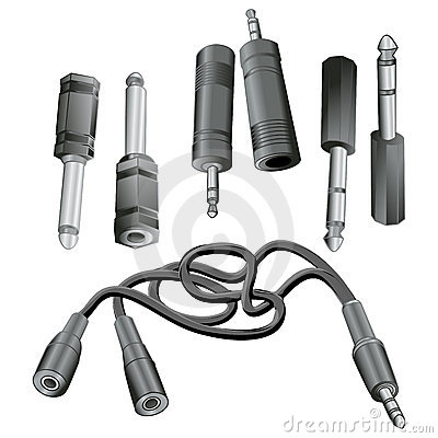 Free Audio Adapters Royalty Free Stock Photo - 630695