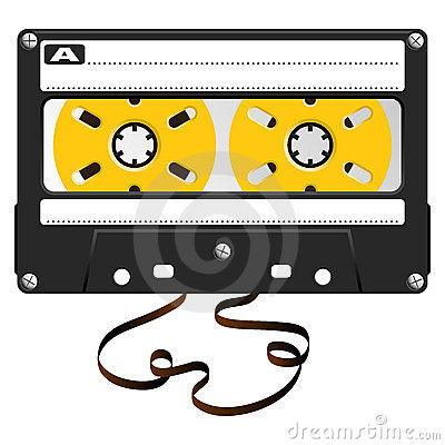 Audio black cassette