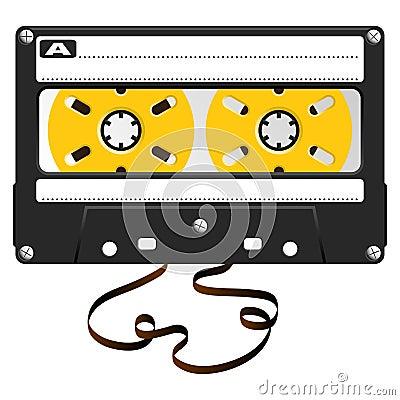 Audio black cassette