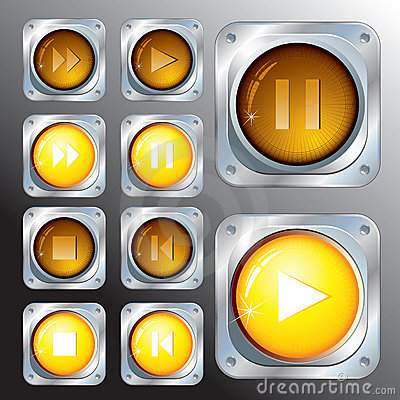 Free Audio Buttons Stock Images - 14331274