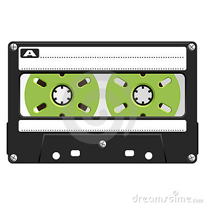 Audio Cassette black transparent