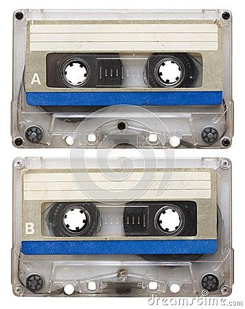 Audio cassette isolated
