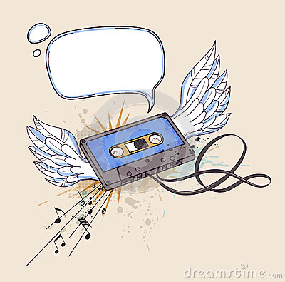 Audio cassette and wings