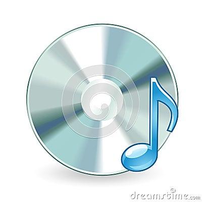 Audio cd isolated