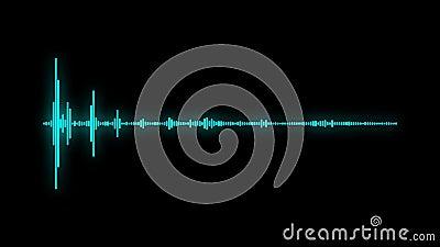 Audio effetto dell'onda sonora di spettro di Digital stock footage