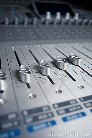 Audio Engineer Mixing Board