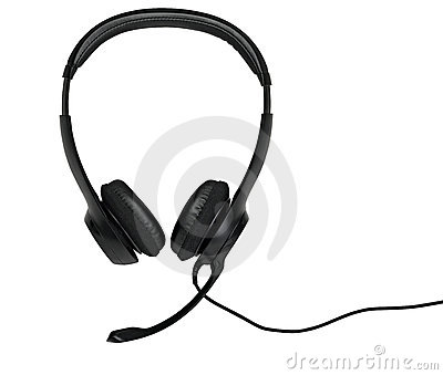 Audio headset (clipping path )