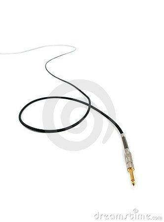 Free Audio / Instrument Cable Extending Into Background Royalty Free Stock Photos - 22896318