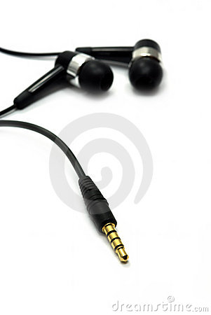 Free Audio Jack And Earphone Royalty Free Stock Images - 17090699