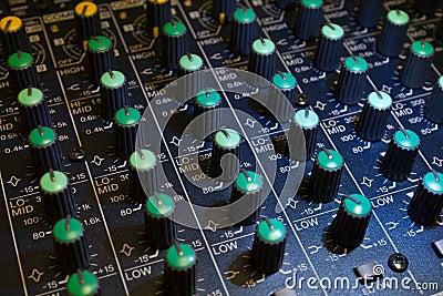 Audio mixer detail