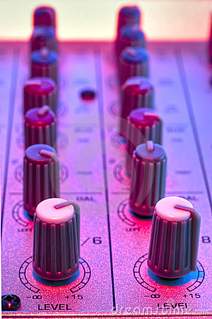 Free Audio Mixer Detail Stock Photography - 3004072