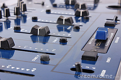 Audio mixing control panel