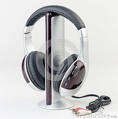 Audio player with headphone