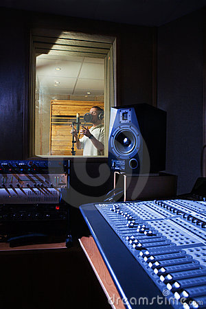 Free Audio Recording Studio Stock Photo - 9127310