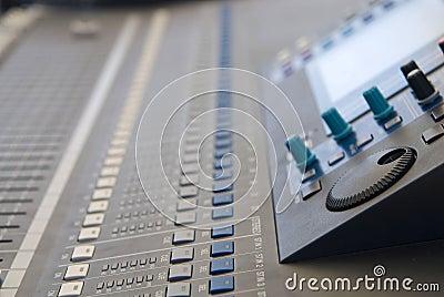 Audio sound mixer console