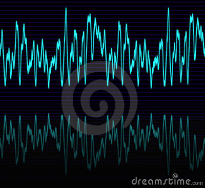 Audio or sound sine wave