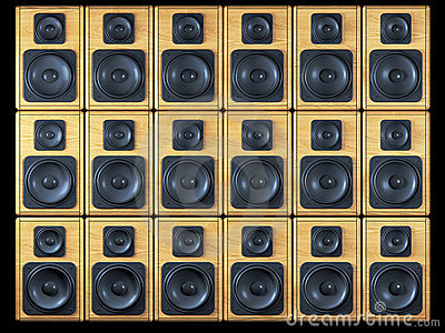 Audio speakers background