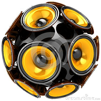 Audio speakers sphere Stock Photo