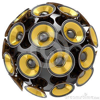 Audio speakers sphere Stock Photo