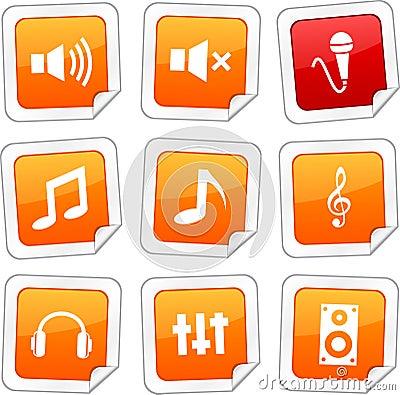 Audio stickers.